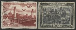 POSTE AERIENNE N° 28 + 29 Cote 37 € Oblitérés. - 1927-1959 Afgestempeld