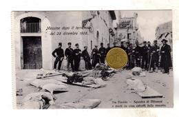 MESSINA TERREMOTO DEL 28 DICEMBRE 1908 Via Placida - Messina