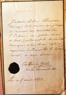 Lettre De La Comtesse De Yold, 1859 - Autographes