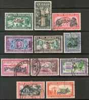 NUEVA ZELANDA Serie Completa X 11 Sellos Usados USO OFICIAL Año 1940 - Officials