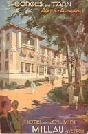 - Aveyron -ref-A510- Millau - Hotel De La Cie Du Midi - Hotels - Illustrateur - Illustrateurs - Publicité - - Millau