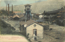 - Aveyron -ref-A509- Decazeville - Le Puits Central - Mine - Mines - Mieurs - Metiers - Carte Colorisée - - Decazeville