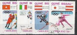 GUINEE BISSAU -  Jeux Olympiques D'hiver - Sarajevo 84 -  Hockey Sur Glace -  Biathlon - Saut - Patinage Artistique - Invierno 1984: Sarajevo