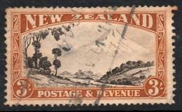NUEVA ZELANDA Sello Usado MONTE EGMONT X 3 S. Año 1935 - Used Stamps