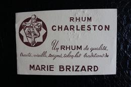 BU/2 - Buvard - Publicité - Marie Brizard  Rhum Chaleston  /  21x13x Cm - Liquor & Beer