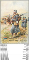 """WW Série L.V.C Par Léon Hingre 1915. Edition """" Le Gaulois """" Bergougnan. INFANTERIE SERBE - Regimenten"""