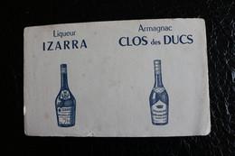 BU/5 - Buvard - Publicité - Liqueur  Izarra - Armagnac Clos Des Ducs  /  22x14 Cm - Liquor & Beer