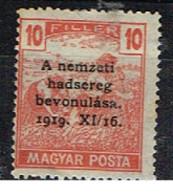 H 390 - HONGRIE Moissonneurs Avec Surcharge Noire 1919 XI/16. Neuf** - Ungebraucht