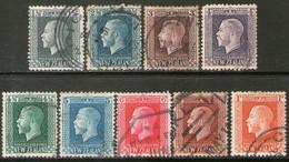 NUEVA ZELANDA Serie X 9 Sellos REY GEORGE V Años 1915-22 - Used Stamps