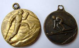 Méd. 47. Deux Médailles De Ski - Professionnels / De Société