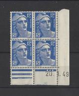FRANCE.  YT Coins Datés N° 812   Neuf **   1949 - 1940-1949