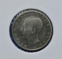 YUGOSLAVIA  20 Dinara - Peter II VF PETAR II KRALJ JUGOSLAVIJE F · DINČIĆ - Yugoslavia
