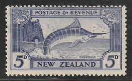 NOUVELLE ZELANDE - N°220 ** (1936-37) Série Courante : Espadon - Unused Stamps