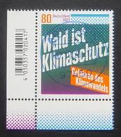 """Bund/BRD Oktober 2021 Sondermarke """"Wald Ist Klimaschutz"""" MiNr 3634, Ecke 3,DSCN0276 Ersttagsgestempelt - Usati"""