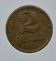 YUGOSLAVIA  КРАЉЕВИНА ЈУГОСЛАВИЈА 2 Dinara - Petar II SMALL CROWN - Yugoslavia