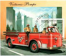 Bloc Bénin 1998 - Camion De Pompiers Firemen - Firemen