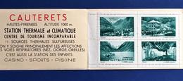 4 Vignettes**Touristique Cauterets Bloc Rare En Carnet-☛Erinnophilie,stamp,Timbre,Label,Sticker-Aufkleber-Bollo-Viñeta-☛ - Blocs & Carnets