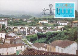 Azores Stamp On Maximum Card - 1984