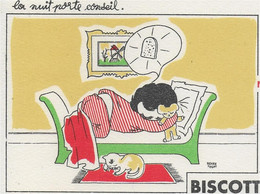 PBUVARD  NEUF ANNEES 50 's  BISCOTTES LISON N)3 Signe REVER TEGAT - Biscottes