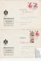 BRD, Unfallverhütung 1972: Zwei Bedarfsbriefe M. Zusammendr. Aus H-Blättern, Bahnpoststempel-Entwertung, S. Scan - Brieven En Documenten