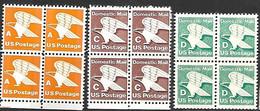 US  1978-85  Sc#1735, 1946, 2111 MNH  Blocks Of 4   2016 Scott Value $5.20 - Ungebraucht