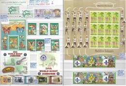 BOY SCOUT **1961/2007 VARIE NAZIONI (vedi Descrizione) : 7 SERIE + 3 FOGLIETTI + 4 MINIFOGLI - Unused Stamps