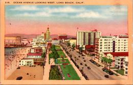 California Long Beach Ocean Avenue Looking West 1945 - Long Beach
