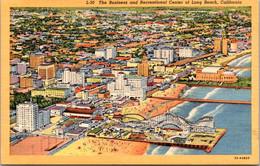 California Long Beach The Business And Recreation Center Curteich - Long Beach