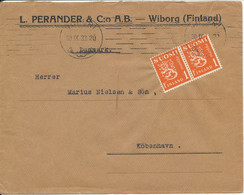 Finland Cover Sent To Denmark 20-9-1932 Franked Lion Type Stamps - Briefe U. Dokumente