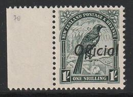 NOUVELLE ZELANDE - SERVICE  N°70 ** (1936) 1S Vert Olive : Oiseaux - Officials