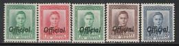NOUVELLE ZELANDE - SERVICE  N°83/85A * (1938-41) - Officials