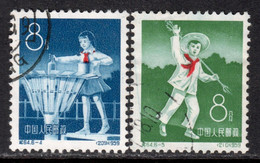 China P.R. 1959 Mi# 488-489 Used - Short Set - 10th Anniv. Of The Young Pioneers - Gebraucht