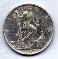 ITALIA, 10 Lire, Silver, Year 1936, KM #80 - 1900-1946 : Vittorio Emanuele III & Umberto II