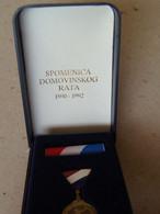 Croatia Army War Officer Testimonial Of Homeland War 1990 1992 Spomenica Rat Memorial Enamel Medal Medaille Medaglia - Sonstige Länder