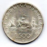 ITALIA, 500 Lire, Silver, Year 1966, KM #98 - 500 Lire