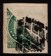 S010H - BOLIVIA, 1890 - SC#: 32 - USED BISECTED ON PIECE - Bolivien