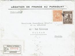 CTN74 - PARAGUAY LEGATION DE FRANCE LETTRE RECOMMANDEE ASUNCION / COLMAR - Paraguay