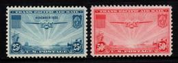 "S010K - USA, 1935 - SC#: C20,C22 - MH - THE ""CHINA CLIPPER"" OVER THE PACIFIC - 1b. 1918-1940 Unused"