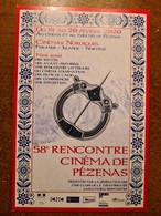 CP 58E RENCONTRE CINEMA DE PEZENAS - Plakate Auf Karten