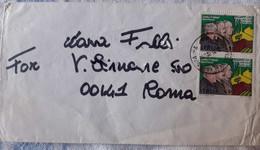 ITALIA 1984 PATTI DI ROMA COPPIA SU BUSTA - 1981-90: Storia Postale