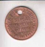 $ (75) SPA Jeton Identificateur Gennevilliers Refuge Le Bon Acceuil GRE 15.07 .. Utilisé K 8258 .. Animaux Chiens Chats - Professionnels / De Société