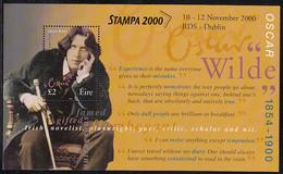 Ireland 2000 MNH Sc #1237 Souvenir Sheet 2pd Oscar Wilde STAMPA 2000 O/P - Nuovi