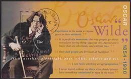 Ireland 2000 Used Sc #1237 Souvenir Sheet 2pd Oscar Wilde - Usati