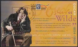 Ireland 2000 Used Sc #1237a Souvenir Sheet 2pd Oscar Wilde Stamp Show 2000 - Usati