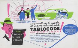 BUVARD  NEUF ANNEES 50 's     EDITIONS EDMOND DUJARDIN ARCACHON TABLOCODE CODE DE LA ROUTE - Papeterie