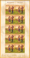 2018 Moldova Moldavie Roma The People Of Moldova Costumes, Horses, Wagon Sheet Mint - Costumi