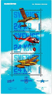 Sweden 2021 MS MNH Firefighting Aircraft Plane Helicopter  Aviation Planes Helicopters - Firemen