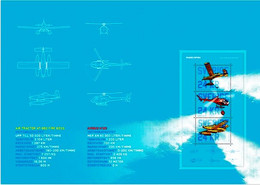 Sweden 2021 Collector's Sheet Firefighting Aircraft Plane Helicopter  Aviation Planes Helicopters - Firemen
