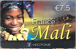 CARTE--PREPAYEE-VECTONE-7,5€-MALIExp 03/2007-Gratté-Plastic Fin Glacé-BE/RARE - Altre Schede Prepagate