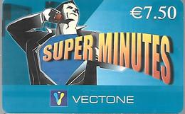 CARTE--PREPAYEE-VECTONE-7,5€- SUPER MINUTES-Exp 05/2007-Gratté-Plastic Fin Glacé-TBE/RARE - Altre Schede Prepagate